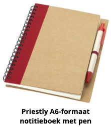 Priestly A6-formaat notitieboek met pen